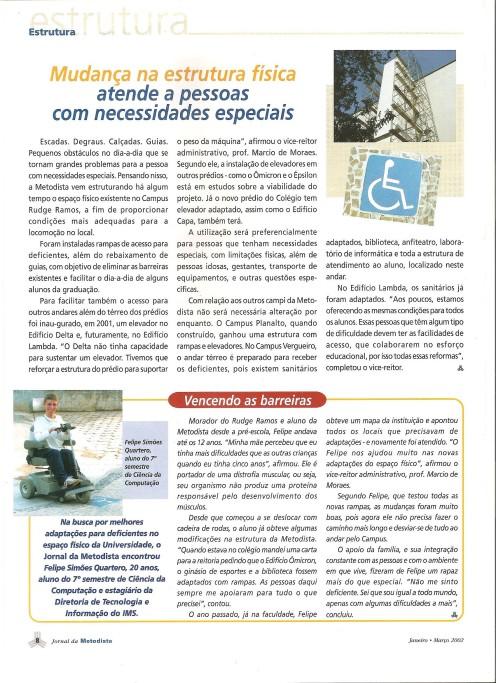 Acessibilidade Metodista - Jornal da Metodista
